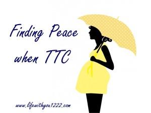 infertility TTC peace