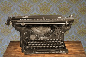 typewriter happy